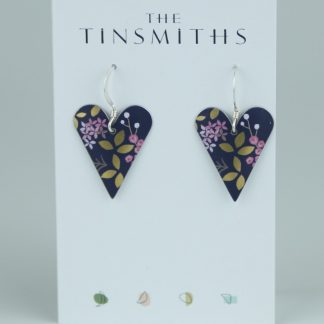 image of The Tinsmiths Kyoto Blue Heart Drop Earrings - medium