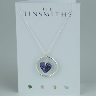 image of The Tinsmiths Forget Me not Circle of Life Pendant
