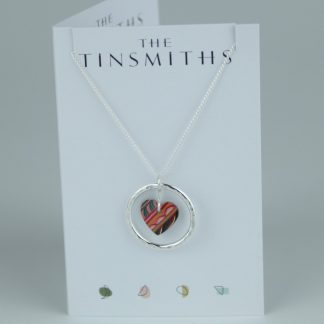 image of The Tinsmiths Tiger Lily Circle of Life Pendant