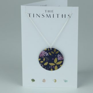 image of The Tinsmiths Kyoto Blue Disc Pendant