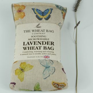 image of Microwavable Wheat Bag – English Lavender Scent – Exotic Butterflies by The Wheat Bag Company