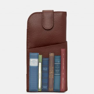 image of yoshi brown bookworm glasses case
