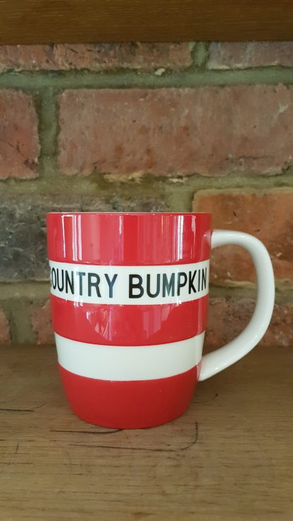 image of red cornishware 12 oz mug country bumpkin