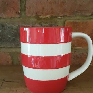 image of red cornishware 12oz mug