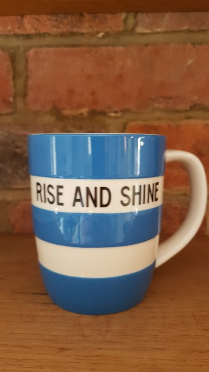 image of Blue Cornishware 12oz Mug - Rise and Shine