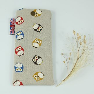 image of Multi Owls Glasses Case by The Wheat Bag Company