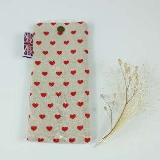 image of Red Hearts Glasses Case by The Wheat Bag Company