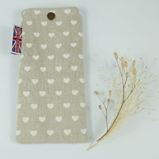 image of White Hearts Glasses Case by The Wheat Bag Company