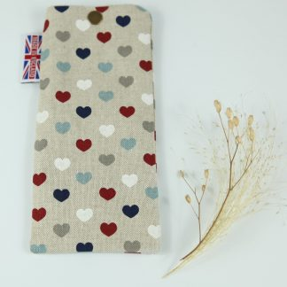 image of Multi Hearts Glasses Case by The Wheat Bag Company