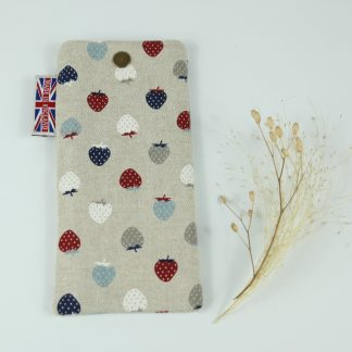 image of Multi Strawberries Glasses Case by The Wheat Bag Company