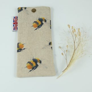 image of Bee Glasses Case by The Wheat Bag Company for glasses or sunglasses!