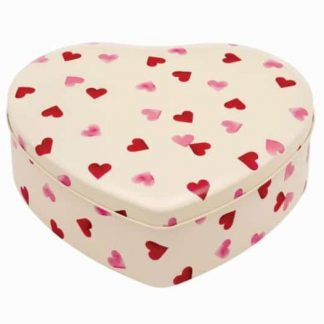 image of Emma Bridgewater - Pink Hearts Large Heart Tin by Elite Tins