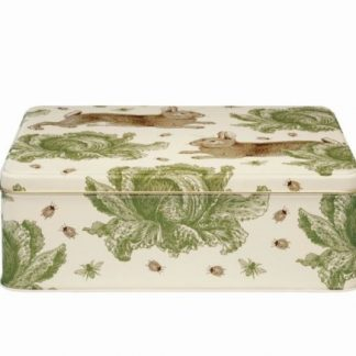 image of Thornback & Peel - Rabbit & Cabbage Extra Large Rectangular Tin