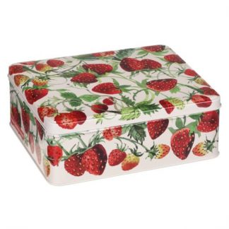 image of Emma Bridgewater Strawberries Deep Rectangular Tin