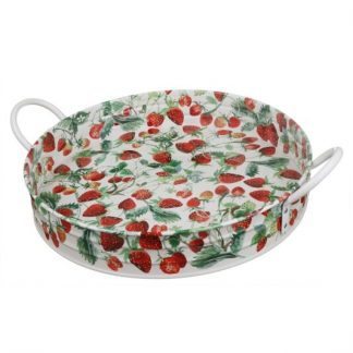image of Emma Bridgewater - Strawberries Large Handle Tray