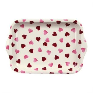 image of Emma Bridgewater - Pink Hearts Small Melamine Tray